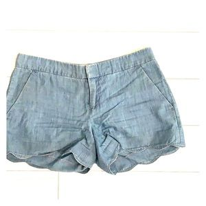Shorts with Scallop trim. Size 0.